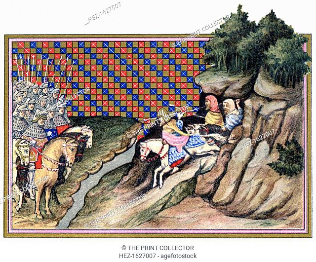 Conference of the Earl of Gloucester and an Irish Chief, Richard II's campaign in Ireland, 1399, (1893). An illustration from A Short History of the English...