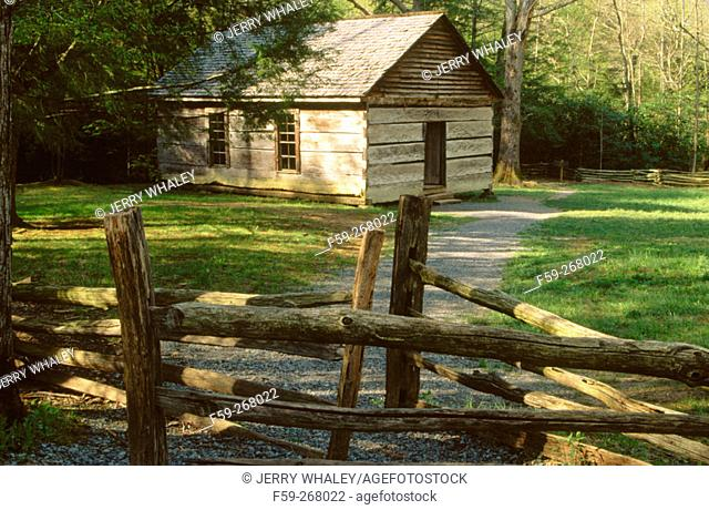 Little Greenbriar schoolhouse. Great Smoky Mountains National Park. Tennessee