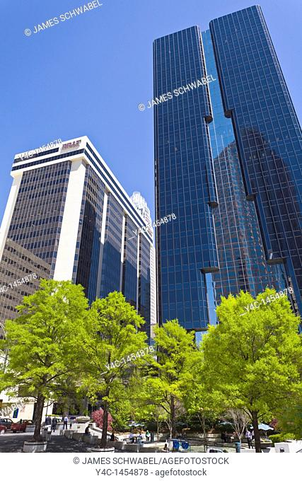 Modern buildings in downtown Charlotte North Carolina