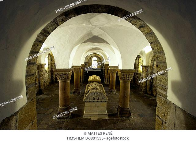 France, Finistere, Quimperle, the church Sainte Croix, the crypt