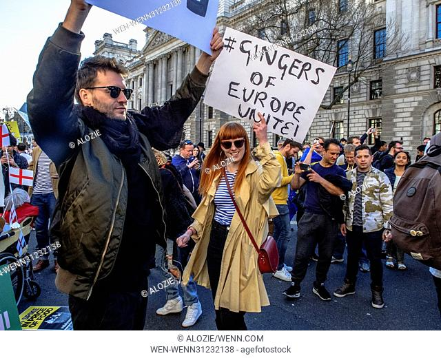 Thousands of people from all over Britain converged in London to show their continuing support for the european union, on the day of it's 60th year of creation