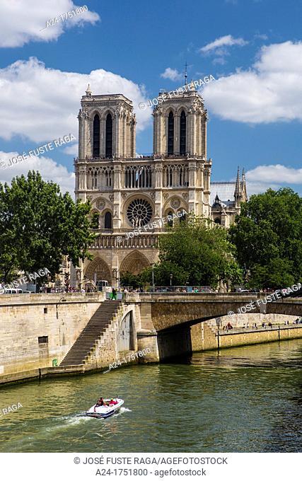 France , Paris City,Notre Dame Cathedral , Sei river