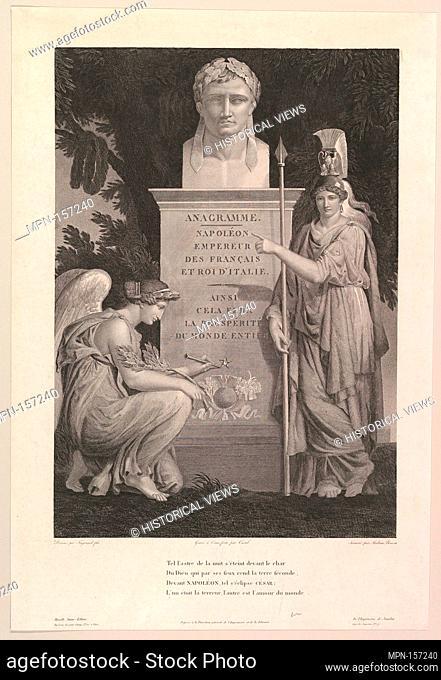 Napoléon, Emperor of the French. Artist: Designed by Alexandre Evariste Fragonard (French, Grasse 1780-1850 Paris); Artist: Etched by Henri Castel (French