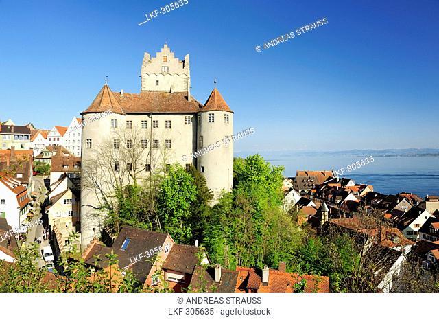 Meersburg Castle, Meersburg, lake Constance, Baden-Wuerttemberg, Germany