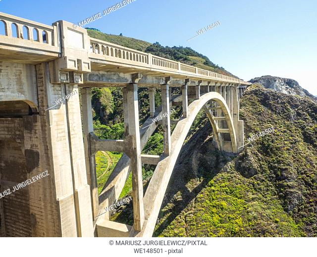 Rocky Creek Bridge is a reinforced concrete open-spandrel arch bridge in California, built in 1932. It is located in Monterey County a few miles south of...