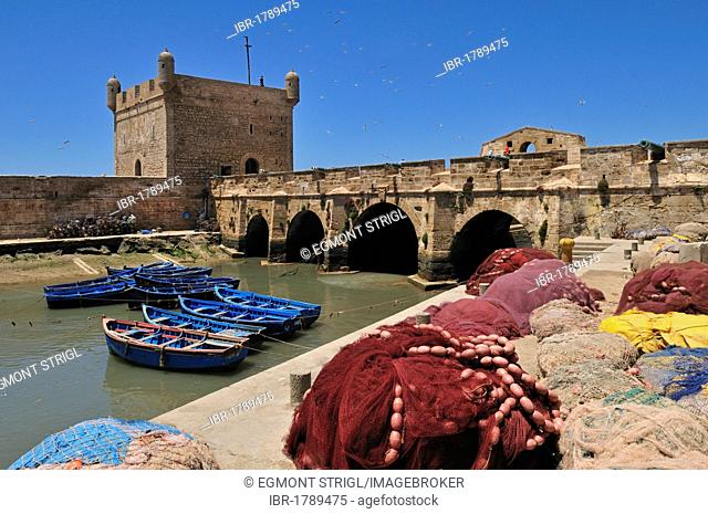 Portuguese fortress in the historic district of Essaouira, Unesco World Heritage Site, Morocco, North Africa