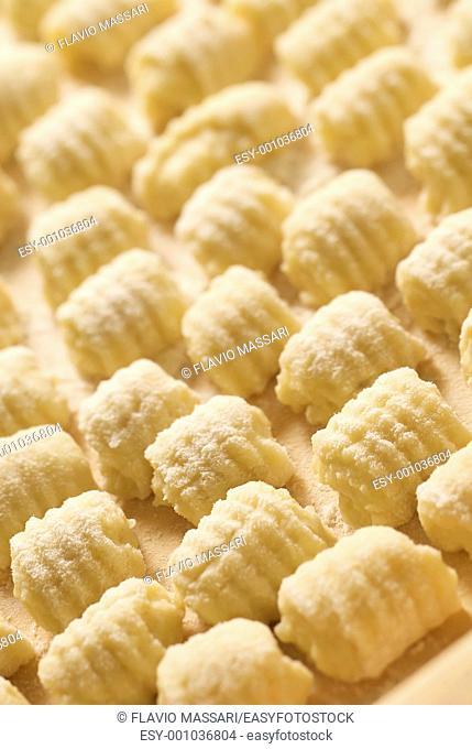 italian homemade gnocchi shallow DOF