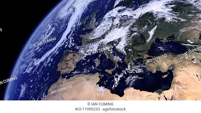 Europe, the Mediterranean Sea and North Africa from space