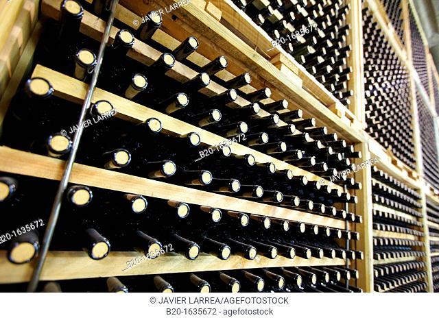 Bottles, Bodegas Olarra, Logroño, La Rioja, Spain