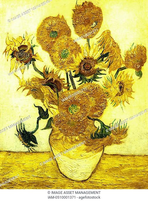 Vincent Van Gogh 1853-1890 Dutch artist  Sunflowers oil on canvas