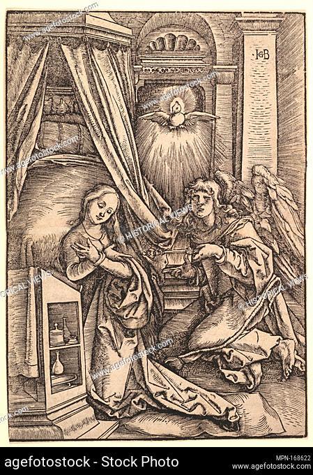 The Annunciation. Artist: Hans Baldung (called Hans Baldung Grien) (German, Schwäbisch Gmünd (?) 1484/85-1545 Strasbourg (Strassburg)); Date: 1514; Medium:...