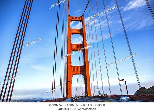 The Golden Gate Bridge. San Francisco. California. USA