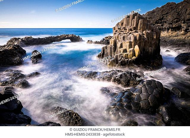 Spain, Canary Islands, El Hierro island declared a Biosphere Reserve by UNESCO, Charco Azul natural pool