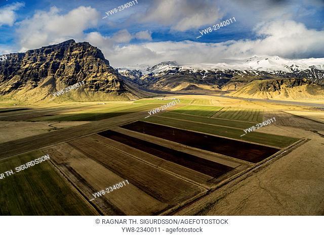 Thorvaldseyri farm, Eyjafjallajokull Glacier, Iceland