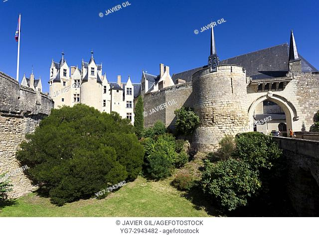 Castle of Montreuil Bellay, Maine et Loire Department, Pays de la Loire Region, Loire Valley, France