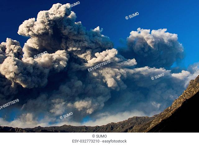 Volcanic eruption in Eyjafjallajokull 2010