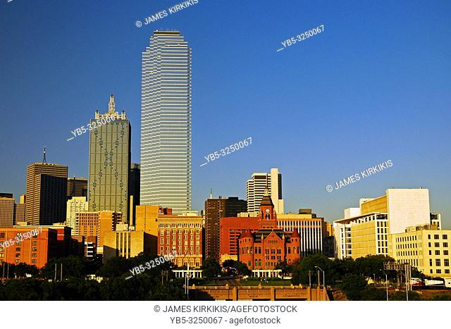 The skyline of Dallas, Texas