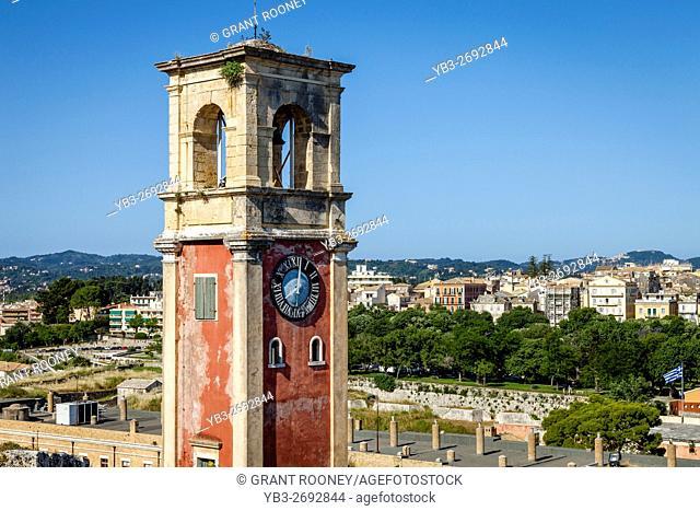 Clocktower, The Old Fortress, Corfu Town, Corfu Island, Greece