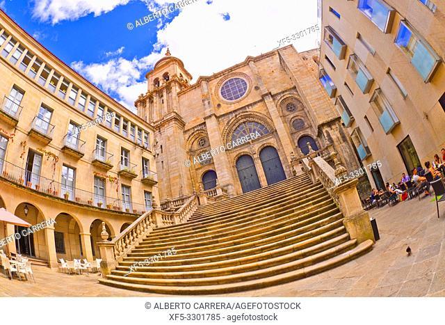 Church of Santa Eufemia, 17th Century Baroque Style, Orense, Galicia, Spain, Europe