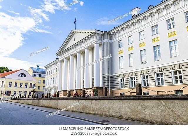 Tartu University main building. Tartu, Tartu County, Estonia, Baltic states, Europe