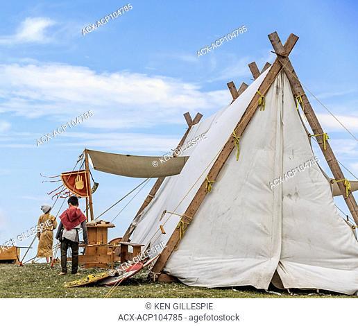 Viking village at the Icelandic Festival of Manitoba, Gimli, Manitoba, Canada