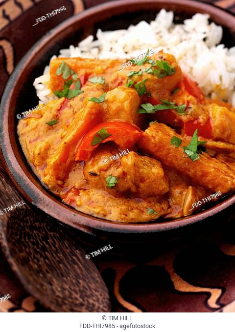 African peanut stew and rice vegetarian main meals