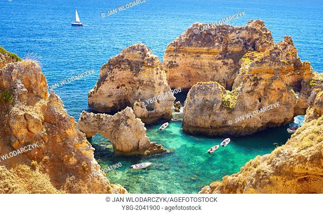 Algarve coast Ponta da Piedade near Lagos, Algarve, Portugal
