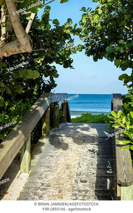Beach access boardwalk, Naples, Florida, USA
