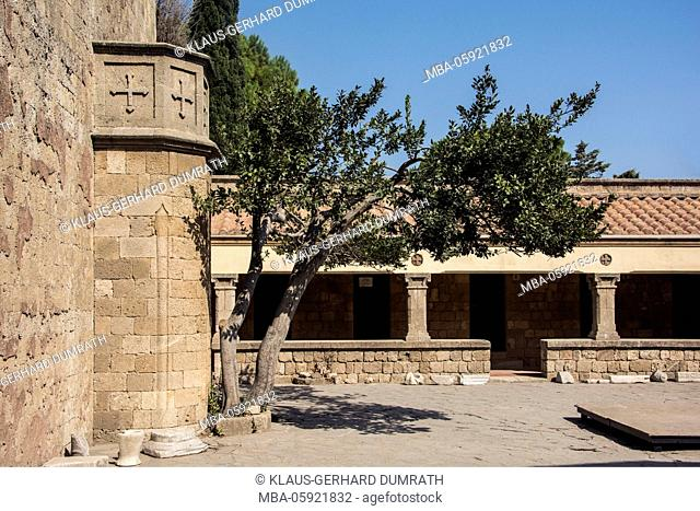 Rhodes, cloister court of Filerimos