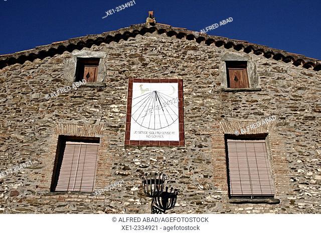 Sundial, La Costa del Montseny, Catalonia, Spain