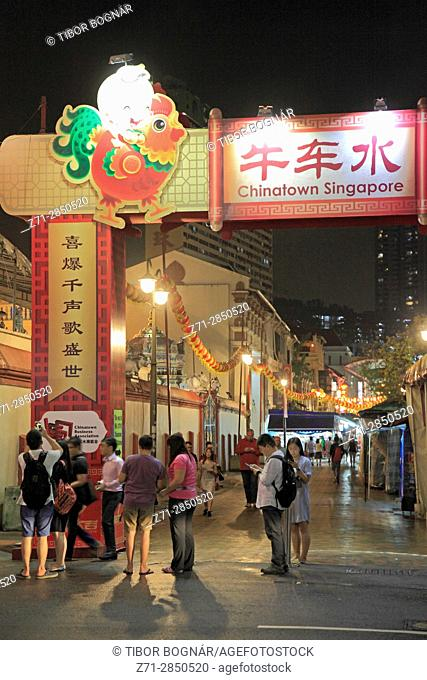 Singapore, Chinatown, street scene, people,