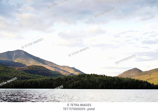Lake Placid and mountains