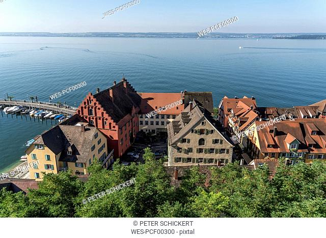 Germany, Meersburg, Lake Constance, harbour and lower city