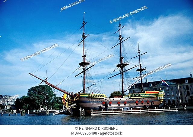Sail-ship, Netherlands, Holland, Amsterdam