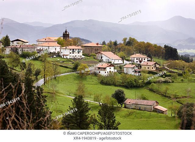 Panoramic of Gabiria, Gabiria, Goierri, Gipuzkoa, Guipuzcoa, Basque Country, Spain