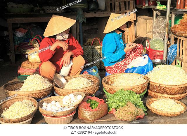 Vietnam, Hoi An, market, people, food,