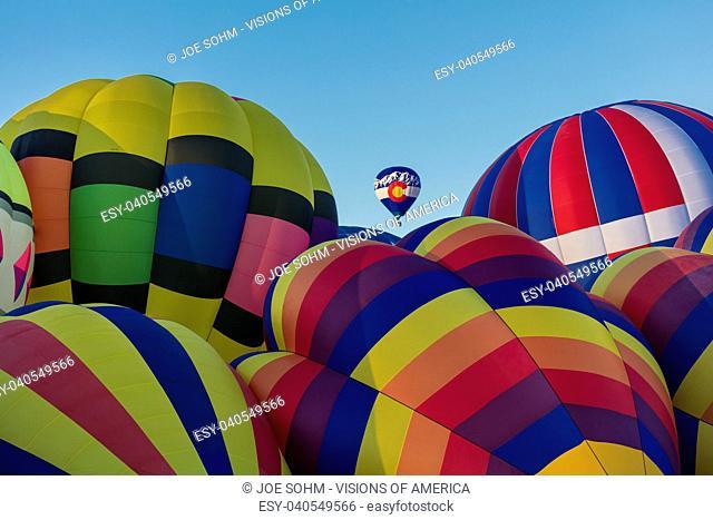 OCTOBER 7, 2017 - Albuquerque, New Mexico - Colorful Hot Air Balloons at the Albuquerque Balloon Fiesta