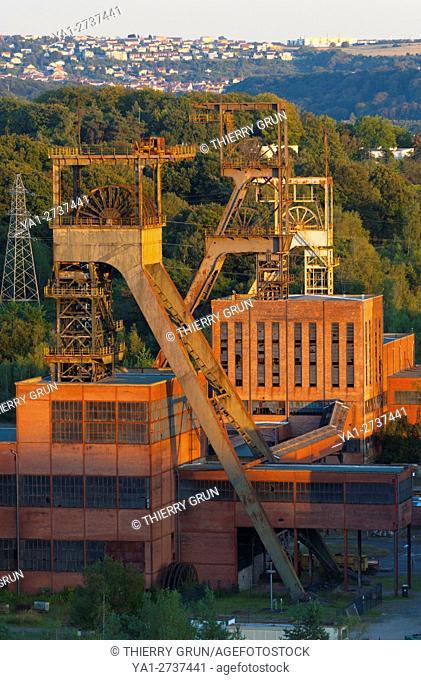 France, Moselle (57), Forbach, Petite Rosselle, Carreau Wendel, Museum Musï½Les Mineurs Wendel, old mine shaft Wendel 1, 2 and 3