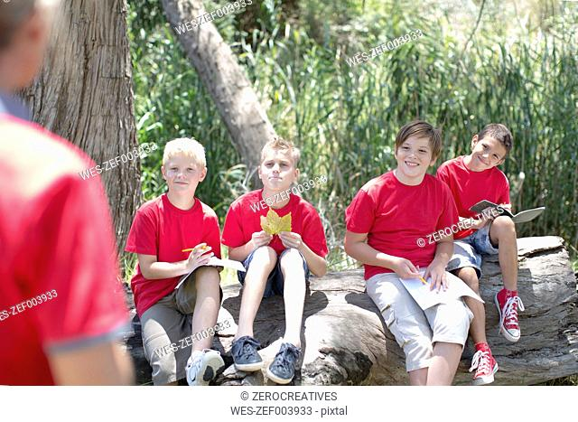 South Africa, Kids on field trip exploring nature