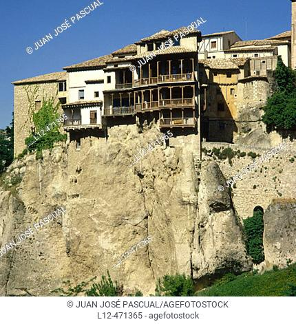 Hanging houses, Cuenca. Castilla-La Mancha, Spain