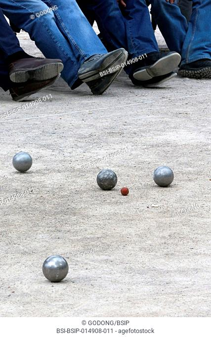 Saint Tropez, playing Petanque (French bowls) on the Place des Lices