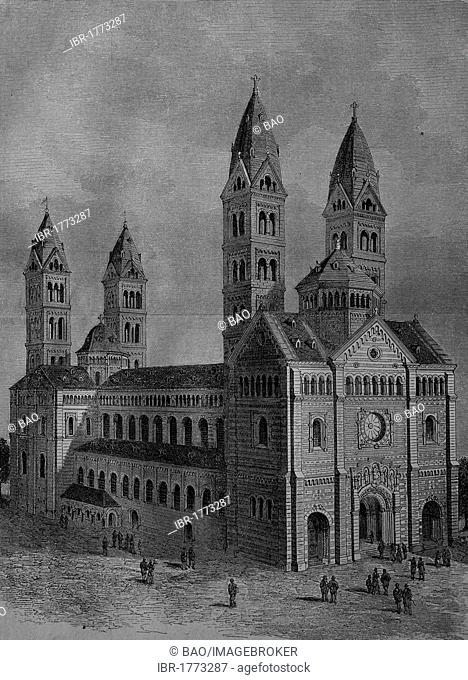 Speyer Cathedral, Germany, about 1890, historical picture