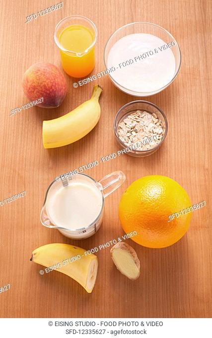 Ingredients for making smoothies