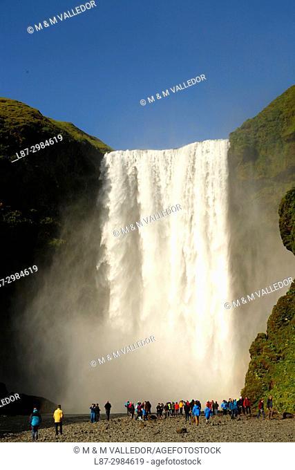 Skogafoss waterfall. Iceland, Europe