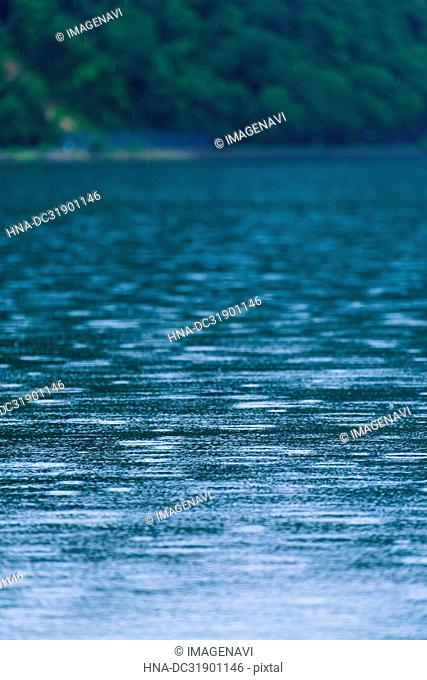 Water surface on the Lake Shikotsu