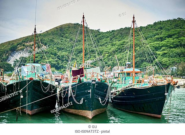 Boats on water, Tai O, Hong Kong