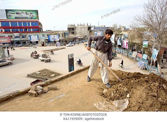 Centre of Kunduz city, Afghanistan