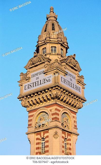 De Castellane tower in Epernay, Champagne district, France