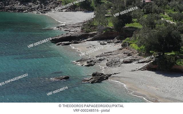 Kryoneri beach. Arcadia, Peloponnese, Greece