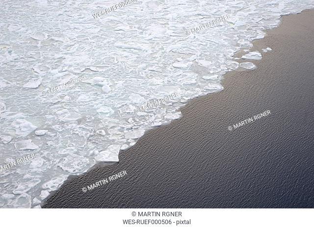 Antarctic, Antarctic Peninsula, Weddell Sea, Corner of park ice